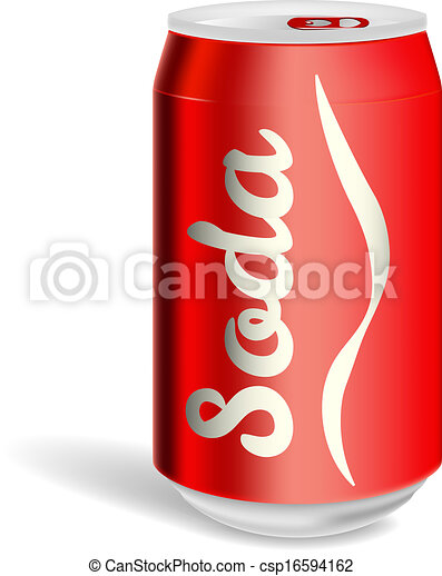 Aluminium soda can isolated - csp16594162
