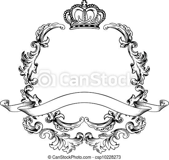 aluminium, weinlese, rahmen, abbildung, luxus, schablone - csp10228273