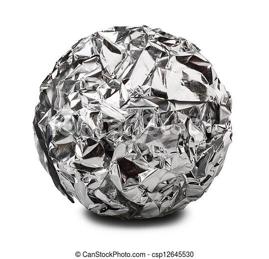 aluminiumfolie ausschnitt kugel aluminium freigestellt. Black Bedroom Furniture Sets. Home Design Ideas