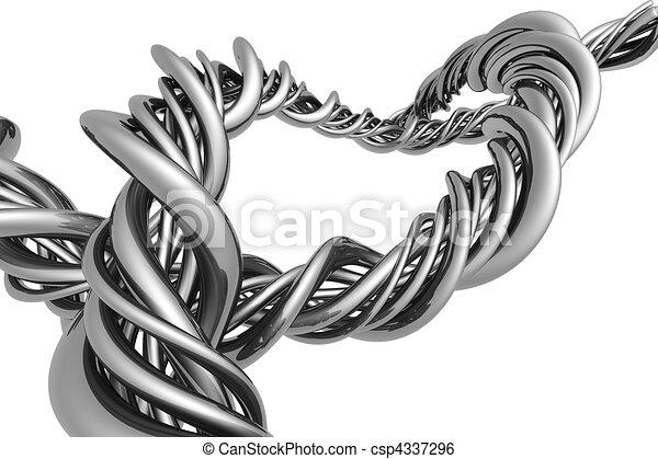Aluminum abstract silver string - csp4337296