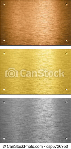 Aluminum brass bronze stitched metal plates with rivets - csp5726950