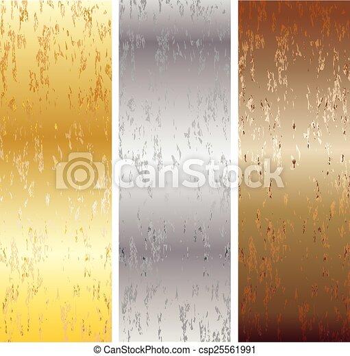 Aluminum, bronze and brass stitched - csp25561991