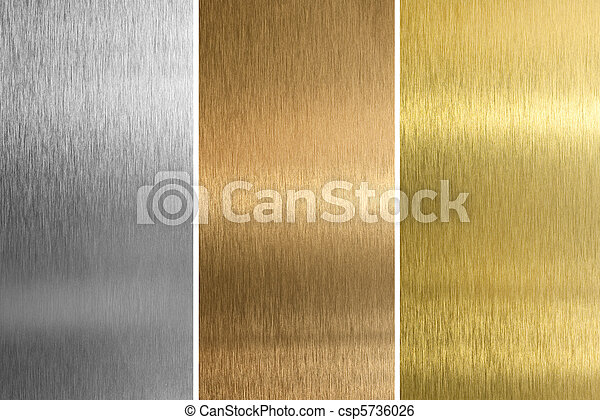 Aluminum, bronze and brass stitched textures - csp5736026