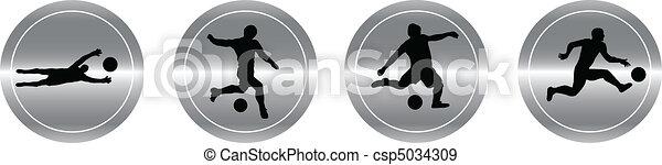 aluminum buttons of soccer - csp5034309