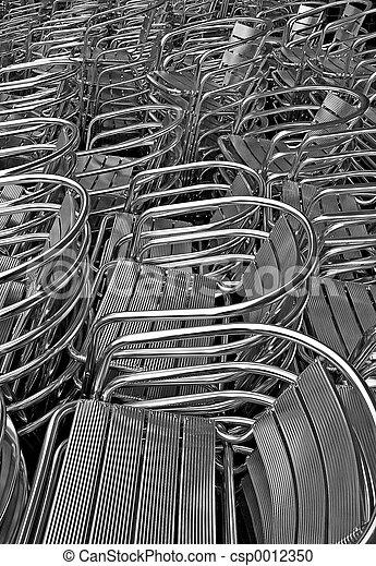 Aluminum chairs - csp0012350