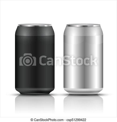 aluminum drink can template blank packaging wet water or beer soda