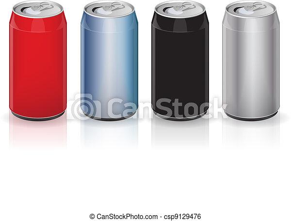 Aluminum drink cans - csp9129476
