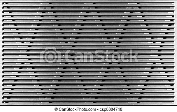 aluminum metal grate industrial background  - csp8804740