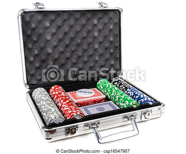 Aluminum suitcase for poker - csp16547907