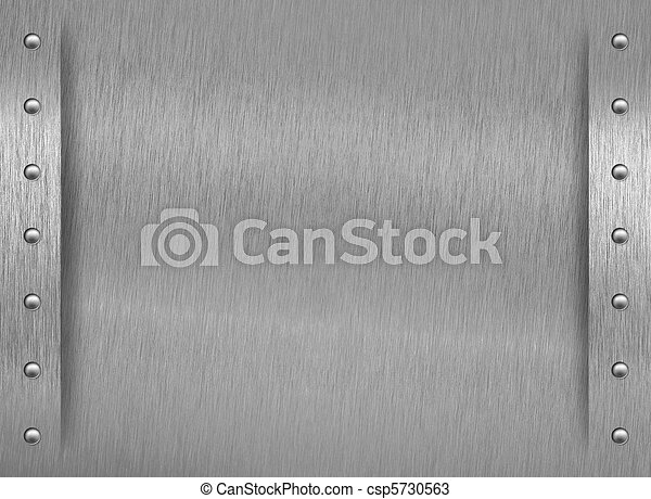 Aluminum texture with border and rivets - csp5730563