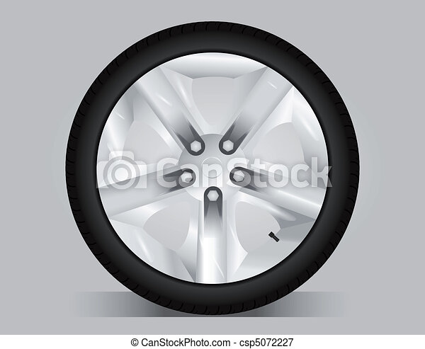 Aluminum wheel - vector illustration - csp5072227