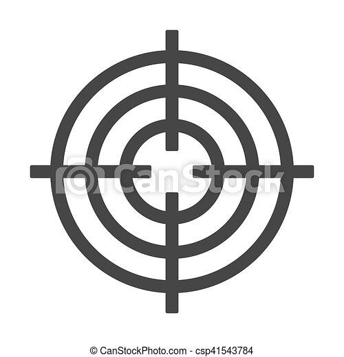 alvo, isolado, experiência., vetorial, branca, tiroteio, ícone - csp41543784