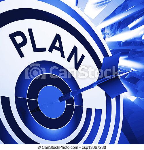 alvo, meios, planificação, plano, metas, missões - csp13067238