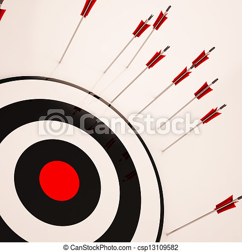 alvo, objetivo, fracasso, mal sucedido, perdido, mostra - csp13109582