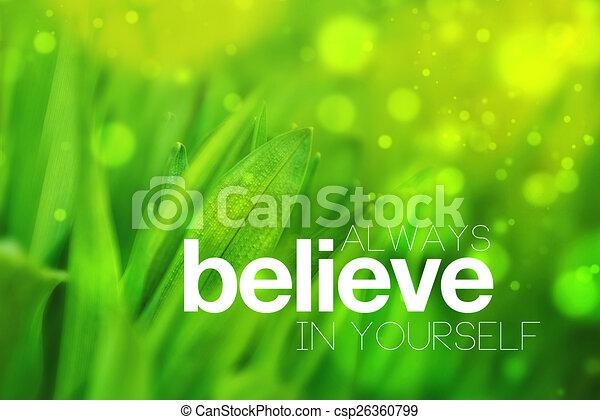 Always Believe In Yourself - csp26360799