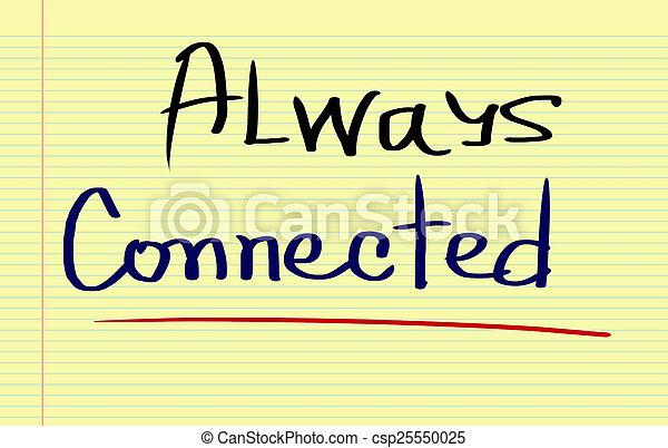 Always Connected Concept - csp25550025