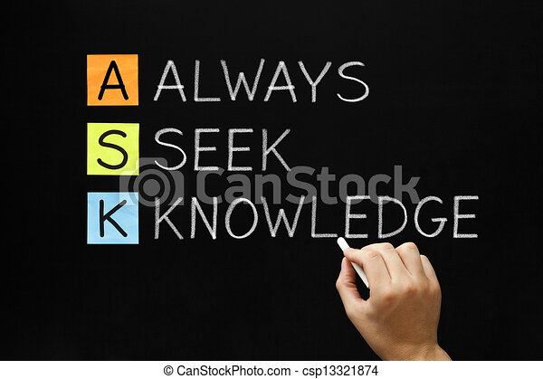 Always Seek Knowledge Acronym - csp13321874