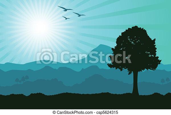 alzavola, paesaggio - csp5624315