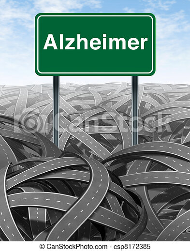 Alzheimer Disease and Dementia Medical concept - csp8172385