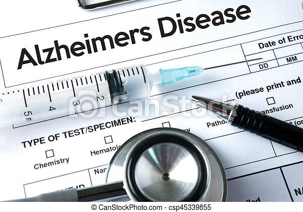 Alzheimers Disease concept , Brain degenerative diseases Parkinson - csp45339855