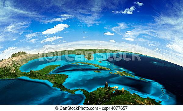 américa, central, paisagem, espaço - csp14077657