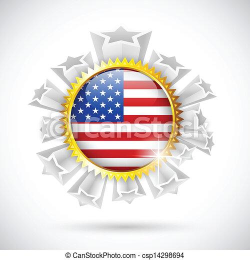 américain, écusson, drapeau - csp14298694