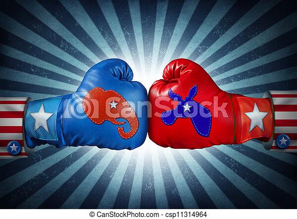 américain, élection - csp11314964