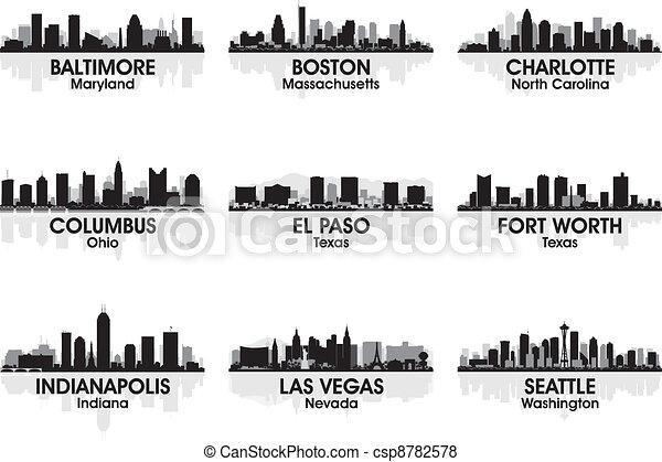 américain, 2, horizon, villes - csp8782578