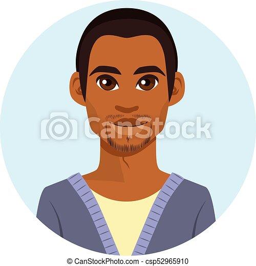 américain, africaine, avatar, homme - csp52965910