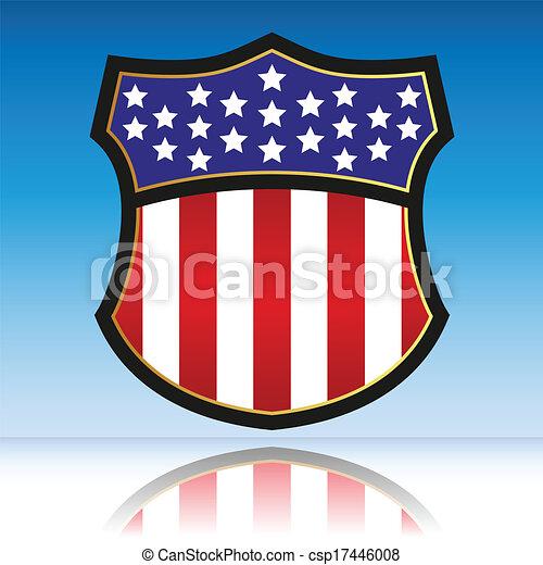 américain, bouclier - csp17446008