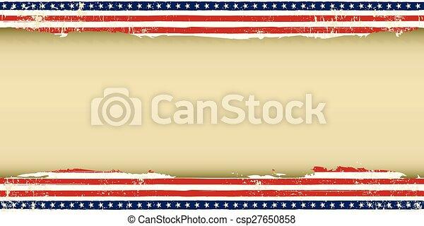 américain, carte voeux, sale - csp27650858