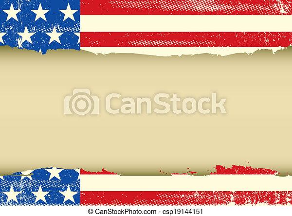 américain, horizontal, cadre, sale - csp19144151