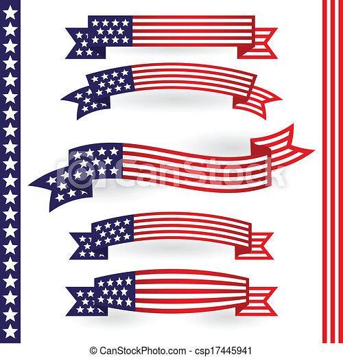 américain, rubans - csp17445941