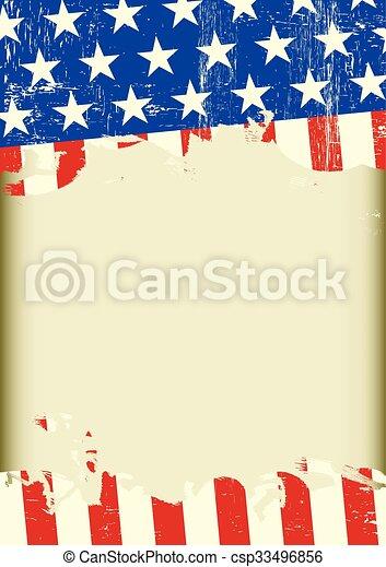 américain, sale, fond, frais - csp33496856