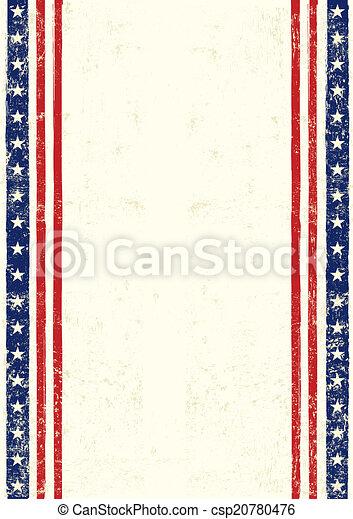 américain, sale - csp20780476