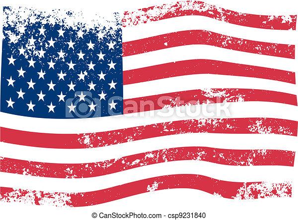 américain, vecteur, drapeau - csp9231840