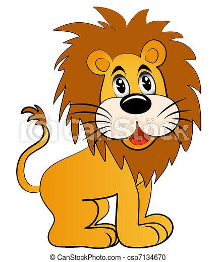 amüsant, löwe, junger - csp7134670
