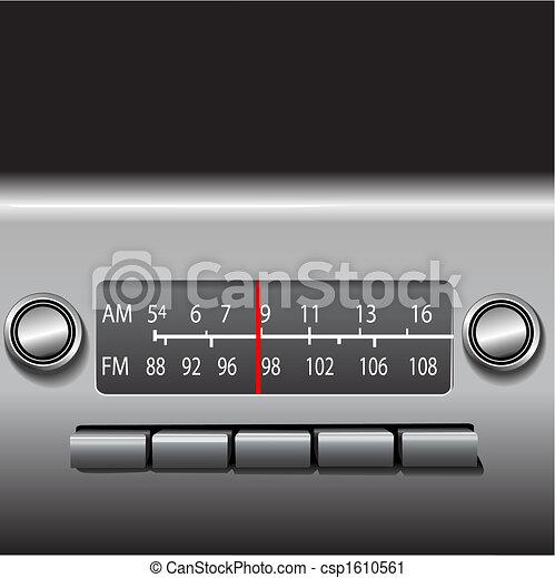 AM FM Car Dashboard Radio Drive Time - csp1610561