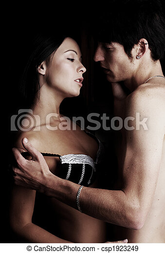 amanti, giovane, intimo - csp1923249