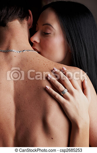 amanti, giovane, intimo - csp2685253
