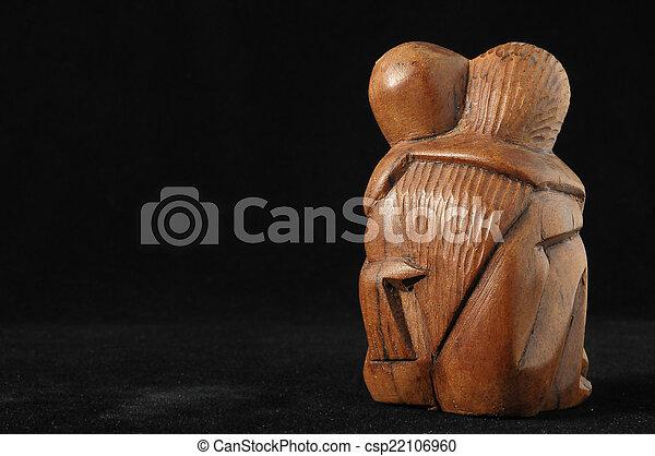 amanti, scultura - csp22106960