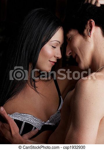 amants, jeune, intime - csp1932930