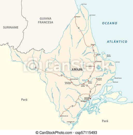 amapa road vector map - csp57115493