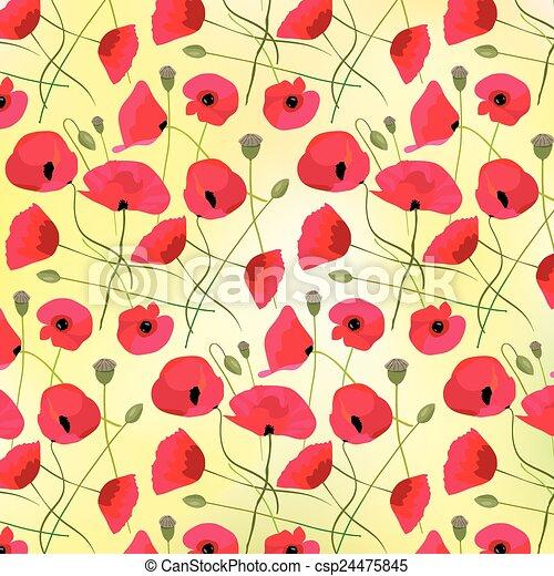 Flores de amapola - csp24475845