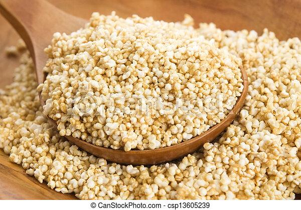 amaranto, estalar, alto, glutina-liberta, grão, cereal, proteína - csp13605239