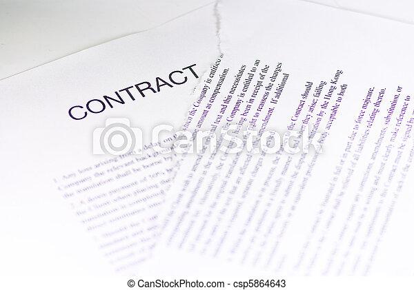 amarrotado, contrato - csp5864643