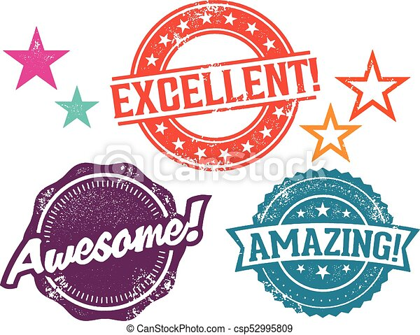 Amazing Awesome Excellent Work Stamps Recognition Rubber Stamps For Great Work Canstock