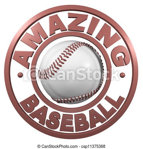 Amazing Baseball circular design - csp11375368