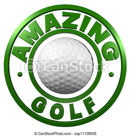Amazing Golf circular design - csp11108005
