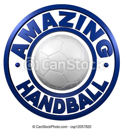 Amazing Handball circular design - csp12057820